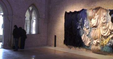 Josep Grau-Garriga visita l'exposició que homenatja el seu vuitantè aniversari