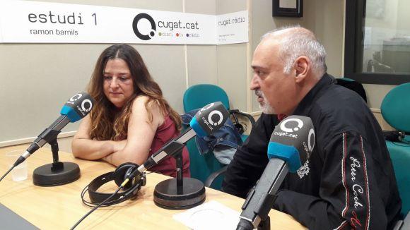 Mireia Gallego i Héctor Garrido, durant la seva intervenció al magazín
