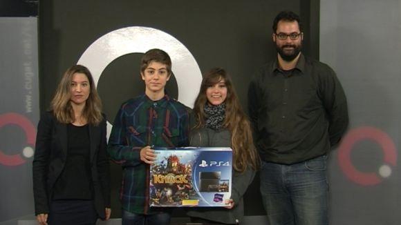 Els guanyadors del concurs 'Comparteix el teu talent' ja tenen el seu premi