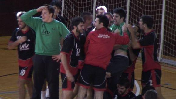 Un gol d'Eloi a l'últim segon dóna un punt a l'Handbol SC davant el líder