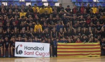 Presentació multitudinària de l'Handbol Sant Cugat