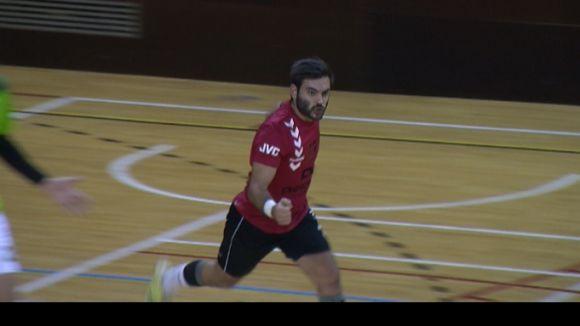 Oriol Cortés celebra un dels cinc gols que ha fet / Foto: Cugat.cat