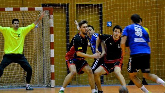 La defensa ha estat un dels punts clau de la victòria / Font: Handbol Sant Cugat