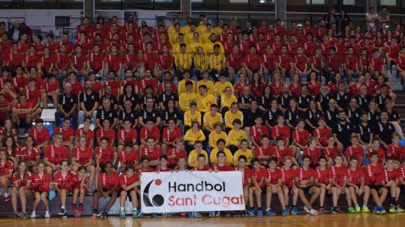 L'Handbol Sant Cugat segueix a l'alça i bat el rècord històric d'equips