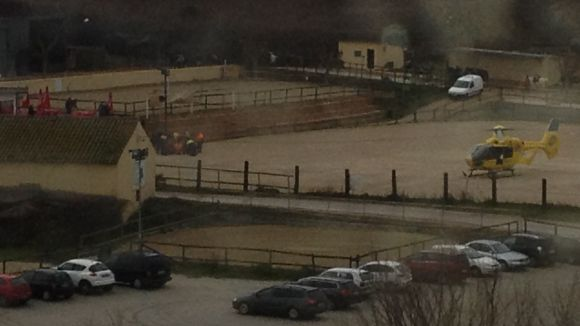 Evacuada en helicòpter una menor ferida en caure del cavall