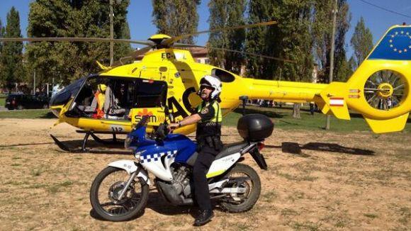 Una emergència mèdica obliga a aterrar un helicòpter a Coll Favà