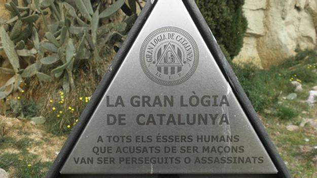 Escultura d'homenatge als maçons perseguits durant el franquisme / Foto: cc by Literat Tours