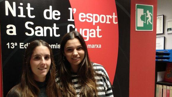 D'esquerra a dreta, Carlota Petchamé i Anna Gil