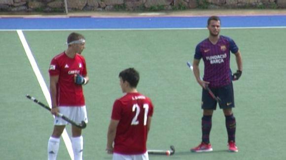 Imatge del partit del Junior contra el FC Barcelona
