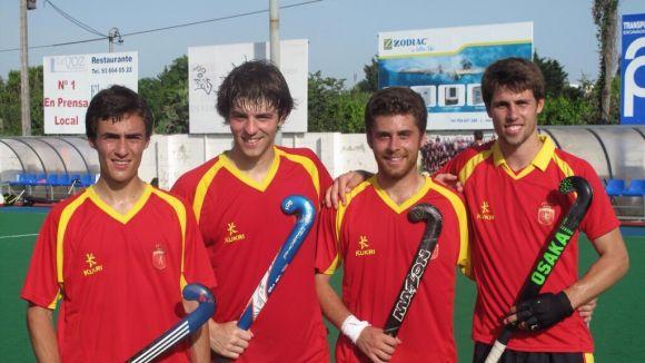 Representació del Junior a l'Europeu sub 21 amb la selecció espanyola