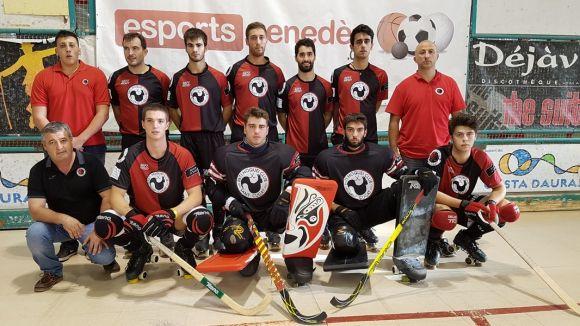 L'equip masculí del Patí Hoquei ha perdut a la pista del Calafell / Font: Esportspenedes.cat