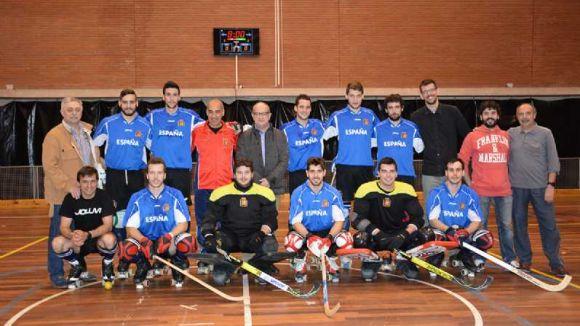 La selecció estatal d'hoquei patins prepara al CAR la Copa de les Nacions
