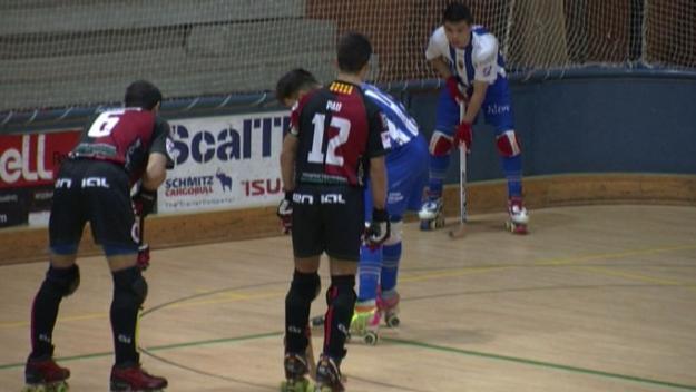 Imatge de l'enfrontament entre Sant Cugat i Alcoy a la primera volta del campionat / Foto: Cugat.cat