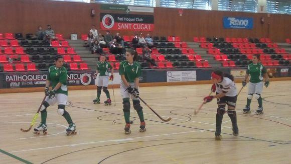 El femení del Patí Hoquei Club Sant Cugat torna a assaborir el triomf i es desfà del filial del Vilanova