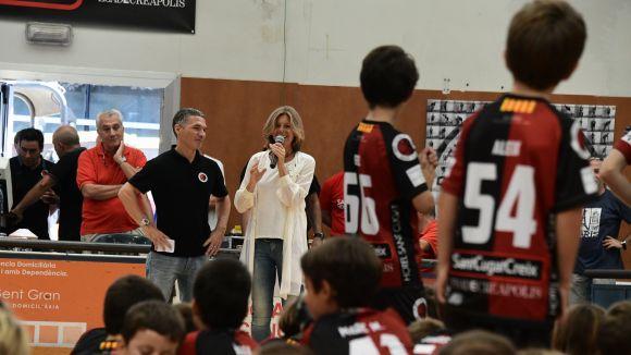 Carmela Fortuny, a la presentació dels equips del Patí Hoquei / Font: Localpres