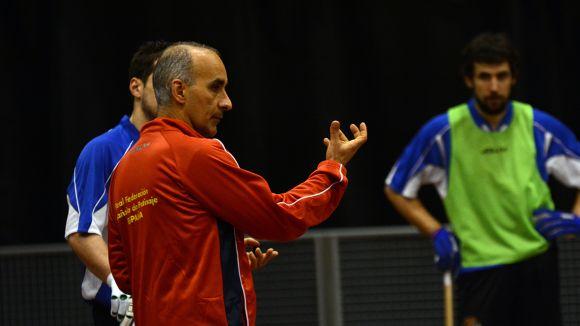 La selecció espanyola d'hoquei patins prepara el Mundial al CAR