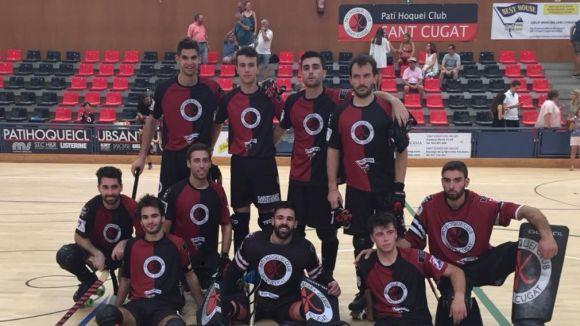 L'equip masculí del Patí Hoquei després de guanyar la Copa Monestir / Font: cedida