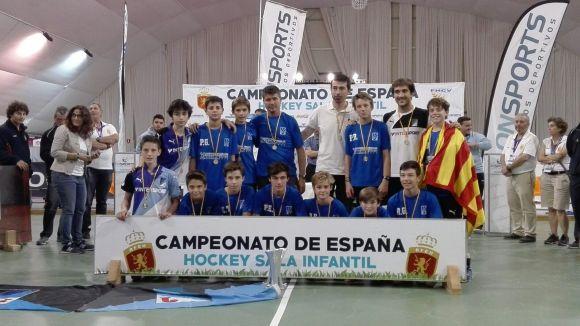 L'infantil masculí del Junior guanya el Campionat d'Espanya d'hoquei sala amb molta solvència
