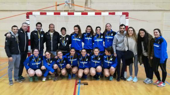 Imatge de l'equip femení del Junior que va guanyar el Campionat de Catalunya la temporada passada / Font: Gemma Grau