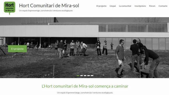Web de l'hort comunitari de Mira-sol