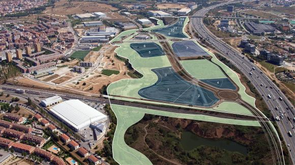 Parcel·les on es construirà el complex / Foto: Gencat