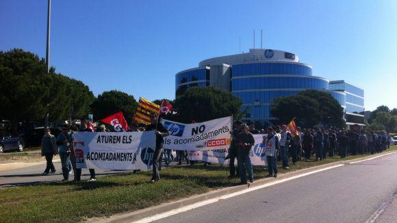 Mobilitzacions dels treballadors d'HP en el primer dia de vaga indefinida