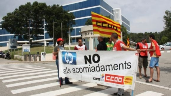 Mobilitzacions contra els 'acomiadaments indiscriminats' d'HP Processos