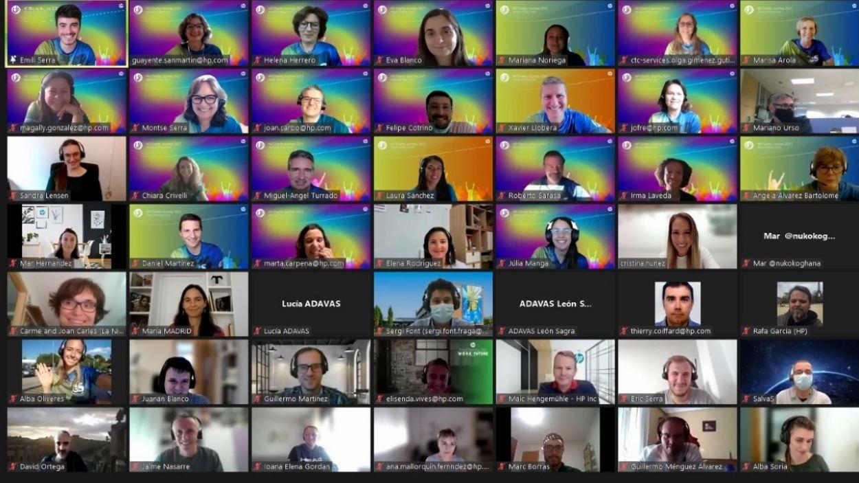 Sessió virtual d'una de les activitats telemátiques de les Jornades Solidàries d'HP/ Font: HP