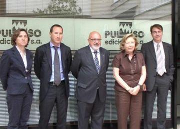 El conseller Huguet visita Pulso Ediciones amb motiu dels seus 30 anys