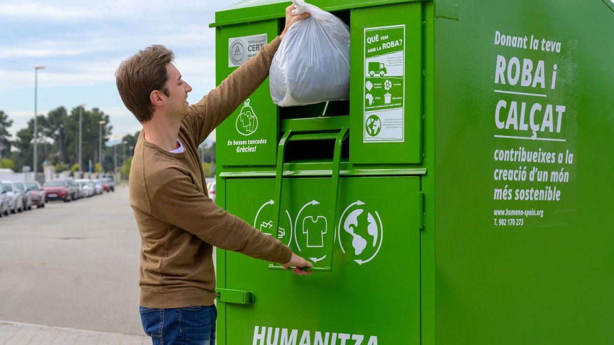 La fundació no ha interromput la recollida de residus tèxtils durant la pandèmia / Font: Humana