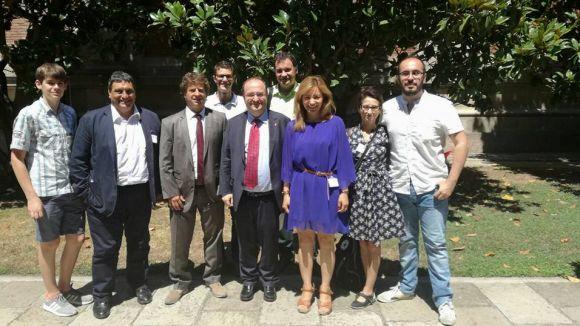 La nova comissió executiva del PSC de Sant Cugat es reuneix amb Iceta per explicar el seu projecte
