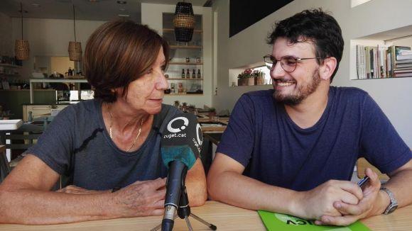 Els regidors d'ICV-EUiA Roser Casamitjana i Ramon Gutiérrez