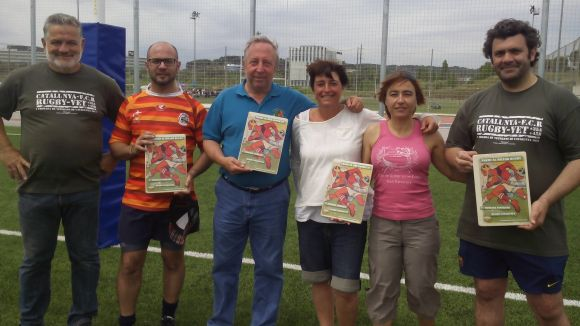 Salvador Brasó amb els premiats a la Trobada