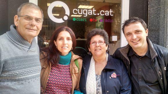 Agustín González, Laia Manresa, Mari Carmen Barazas i Nino Ramírez al 'Sant Cugat a fons' (d'esquerra a dreta)
