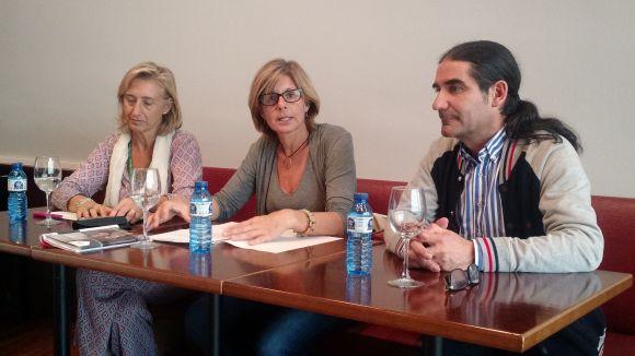 Susanna Pellicer, Carmela Fortuny i Pep Tugues en la presentació dels resultats del programa