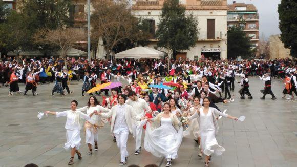 El Ball de Gitanes fa petita la plaça d'Octavià amb 264 balladors