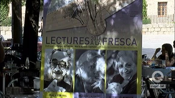 Manuel de Pedrolo i Maria Aurèlia Capmany protagonitzen la 14a edició de les Lectures a la fresca