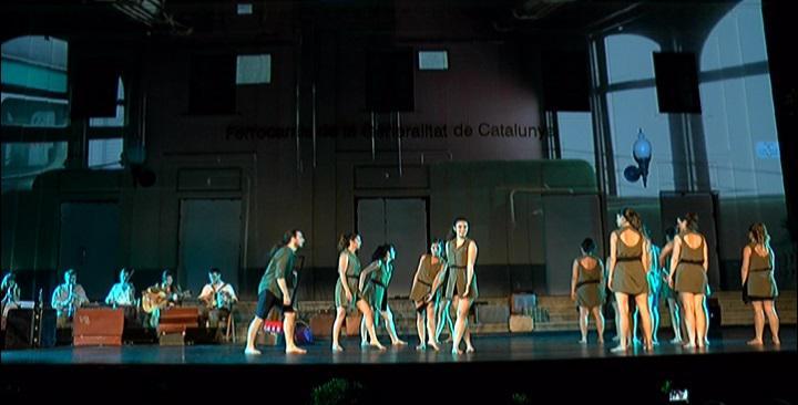 FentVia celebra el centenari de l'arribada del tren a Sant Cugat amb dansa, música i imatge