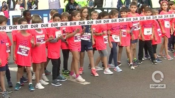 Més de 200 infants participen a la 5a edició de la Cursa Kids DiR