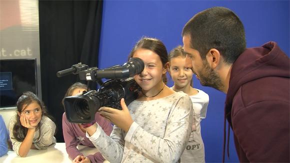 Alumnes de 4t de Primaria (Diables) de l'Escola Pins del Vallés