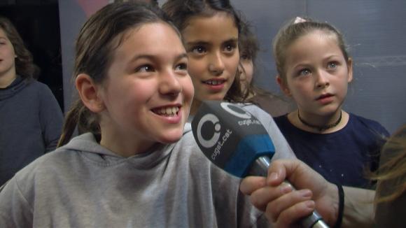 Alumnes de 4t de Primària de l'Escola La Floresta