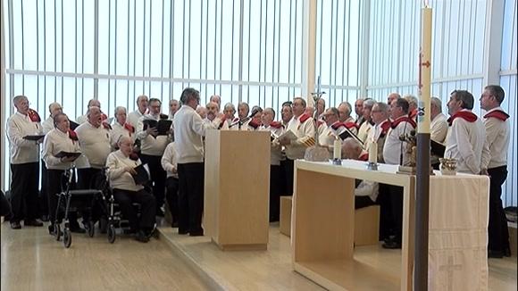 Sant Cugat acomiada Pasqual d'Ossó amb la cançó de la Coral la Lira