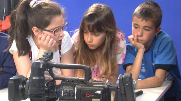 Alumnes de 4t de Primària de l'Escola Collserola