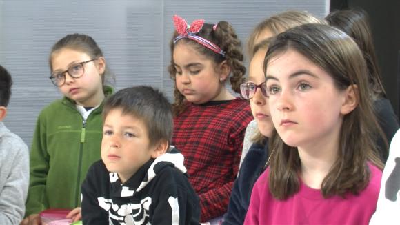 Alumnes de 3r de Primària de l'Escola La Floresta