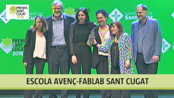 Escola Avenç i FabLab Sant Cugat, Premi Sant Cugat 2018
