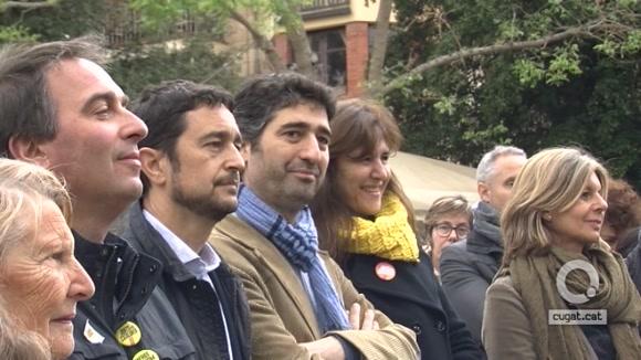 Visita Laura Borràs de Junts per Catalunya a Sant Cugat