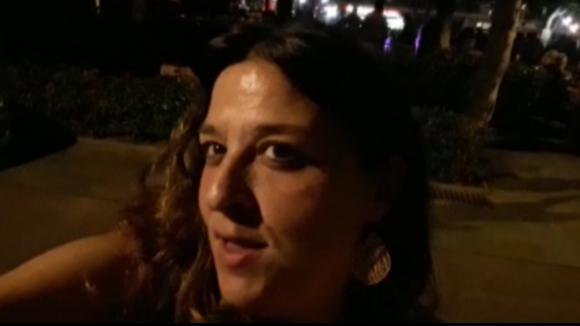 Mireia Gallego fa la contracrònia del sopar popular de Festa Major del barri del Monestir