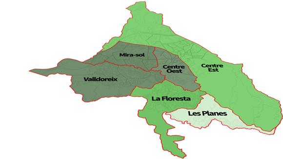 Més de 17.000 euros separen la zona més rica i més pobra de Sant Cugat