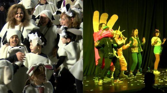 La rua de comparses porta la disbauxa del Carnaval als carrers de Sant Cugat