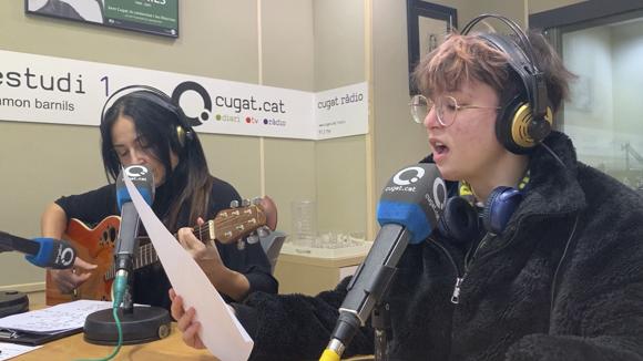 La santcugatenca Sofia Esteban, participant de La Voz Kids, canta en directe al magazín